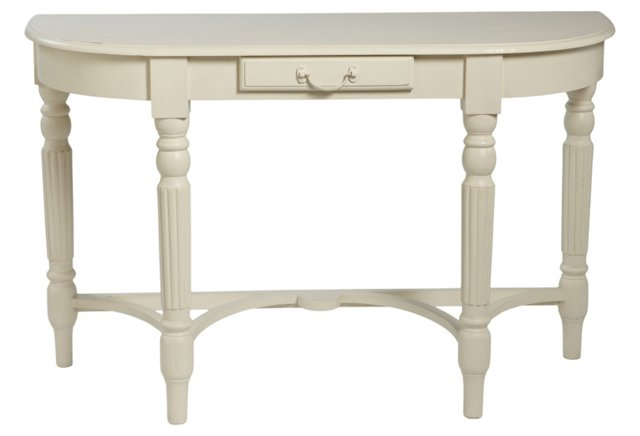 Clara Wooden Console Table, White