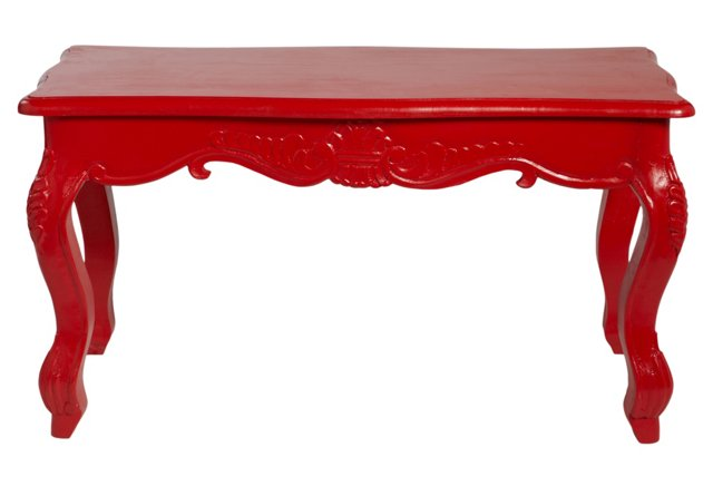 Lucy Cocktail Table, Shiny Red