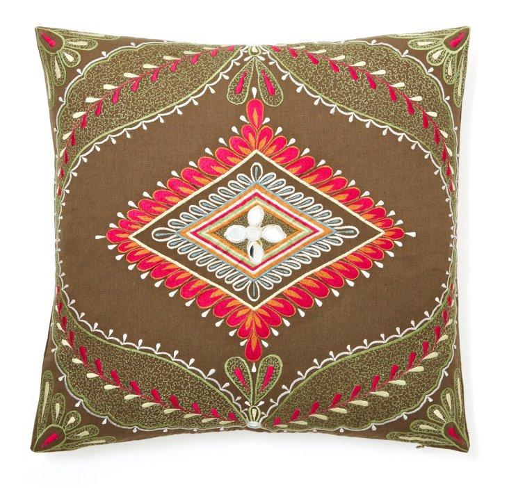 20x20 Square Zebra Pillow