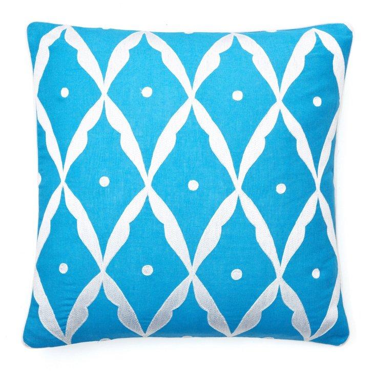 20x20 Square Sultan Pillow, Blue