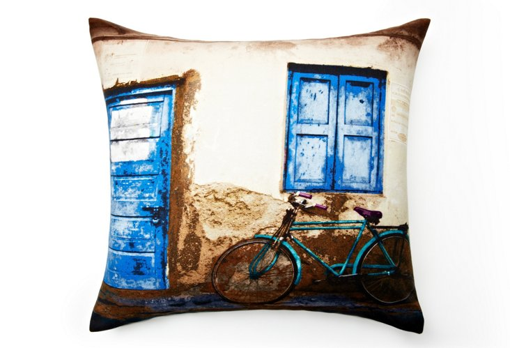 Home Front 20x20 Pillow, Blue/Multi