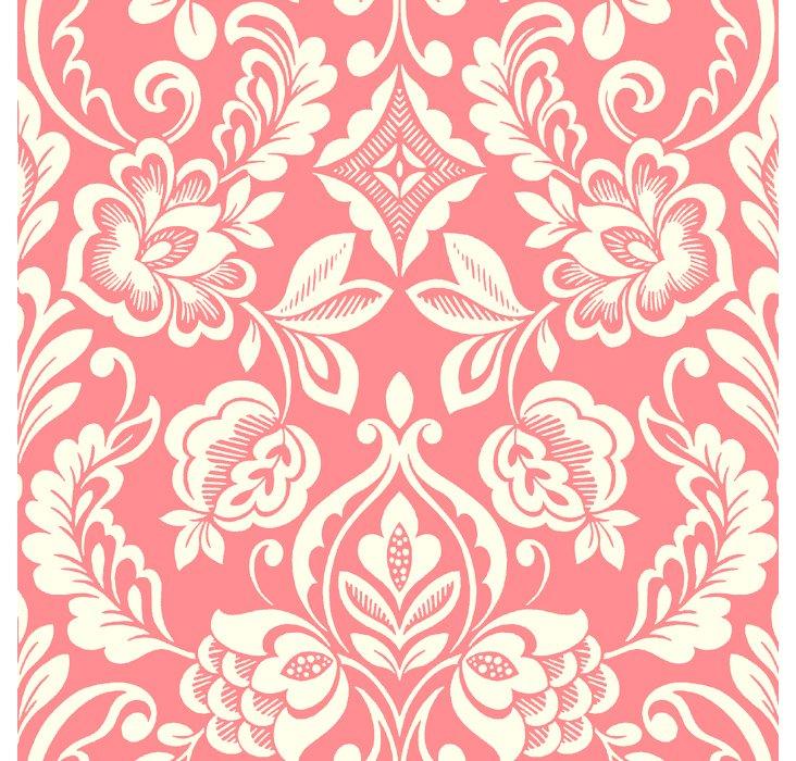 Floral Diamond Damask Wallpaper