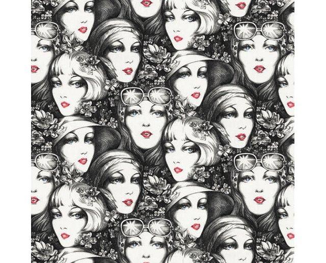 Vintage Faces Wallpaper