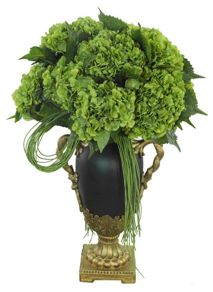 """29"""" Vine & Hydrangea in Urn"""