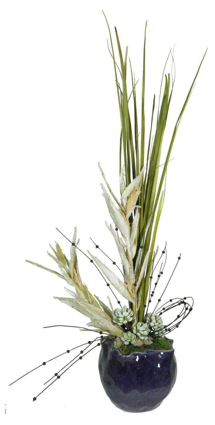 "50"" Sable Grass in Vase"