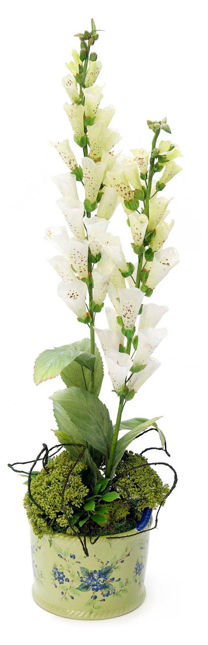 """36"""" Fox Glove & Roses in Vase"""