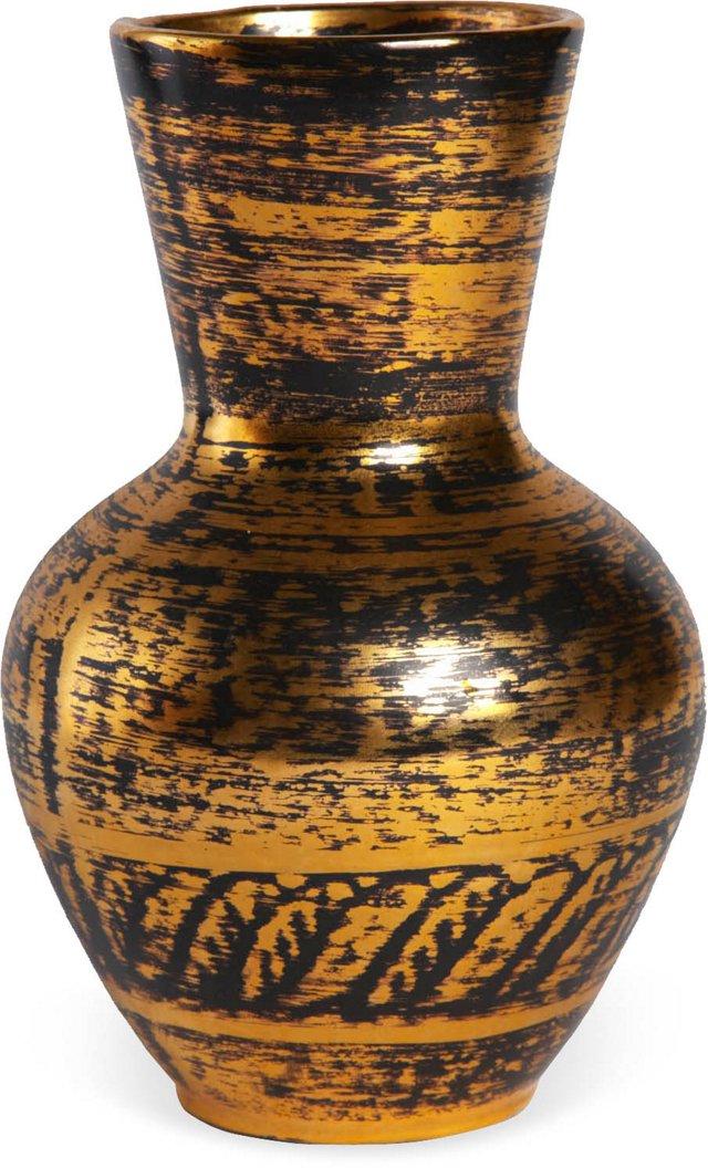 Vintage Multicolored Pottery Studio Vase