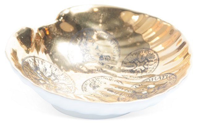Fornasetti-Style Porcelain Dish