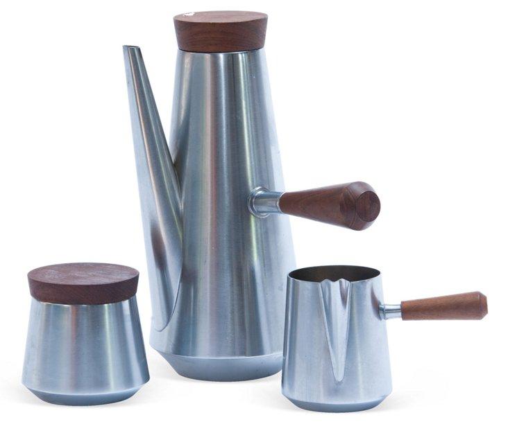 Midcentury Coffee/Tea Set, 3 Pcs