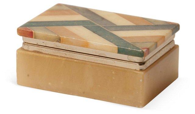Italian Alabaster Lidded Box