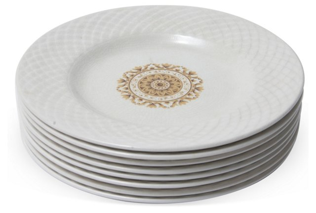 Medallion Dinner Plates, Set of 8