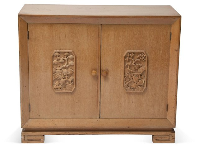James Mont Bleached Mahogany Cabinet