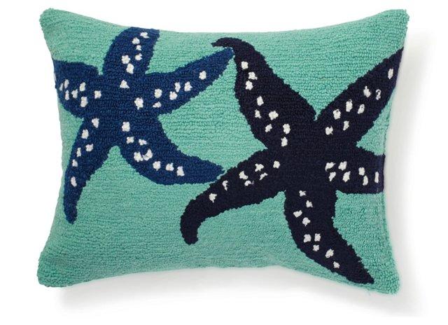Starfish 12x16 Pillow, Blue