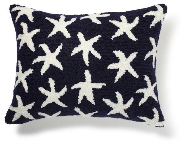 Starfish 12x16 Pillow, Blue/White