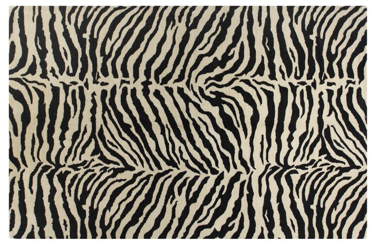 Wilderness Rug, Black/Sand