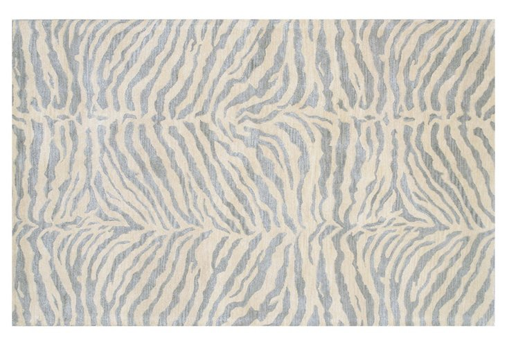 "2'6""x8' Wilder Runner, Light Blue/Ivory"