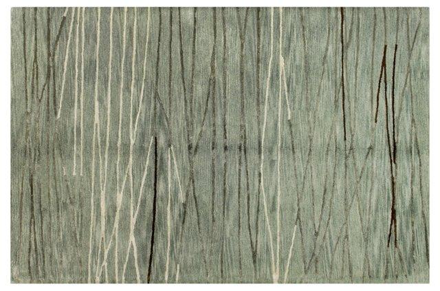 Lake Rug, Dusty Aqua/Stone