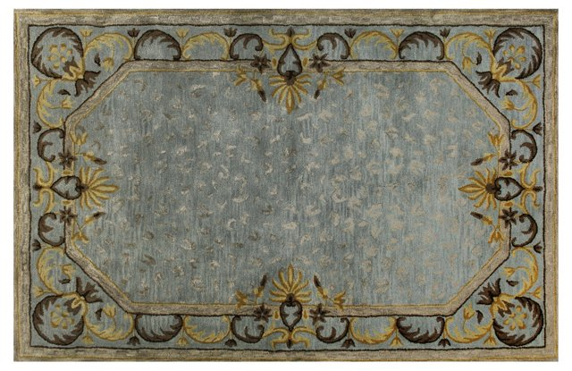 Wild Roman Rug, Light Blue