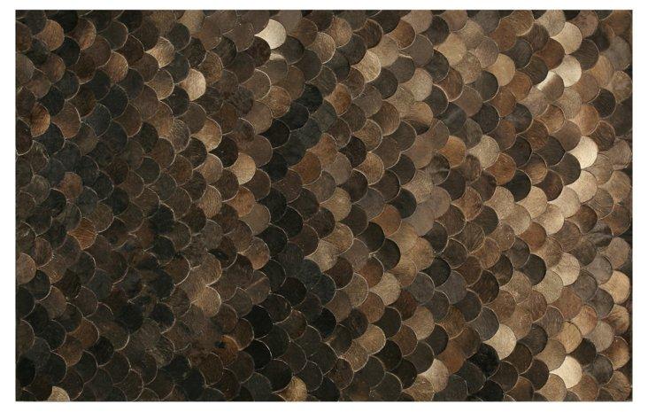 Pebblestone Leather Hide, Chocolate