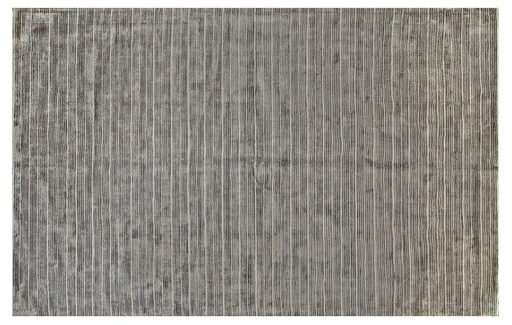 """5'9""""x8'9"""" Powell Rug, Pewter"""