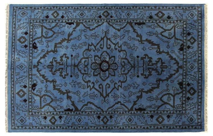 6'x9' Plzens Rug, Blue