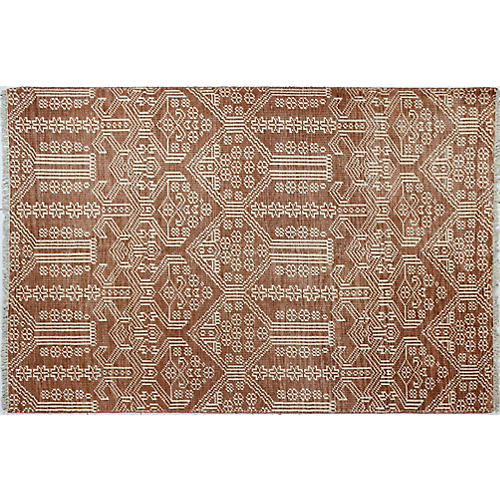 Sophia Hand-Knotted Rug, Rust