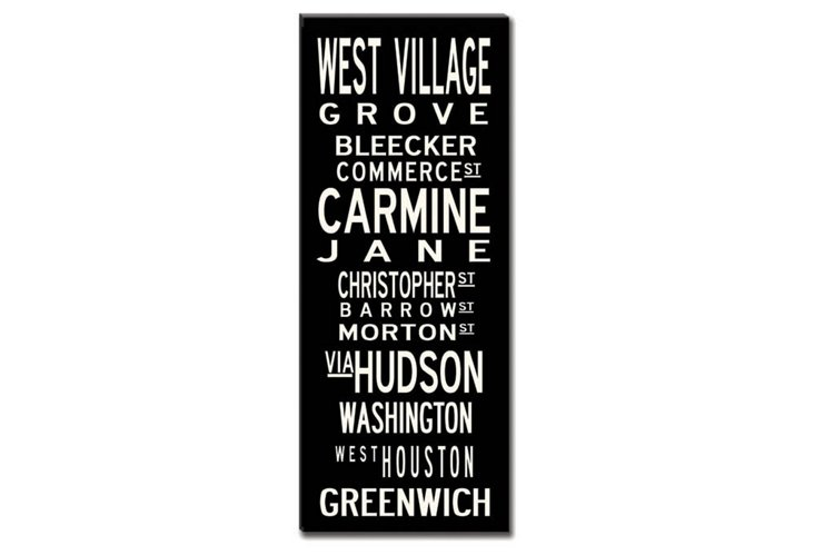 West Village Canvas, Black