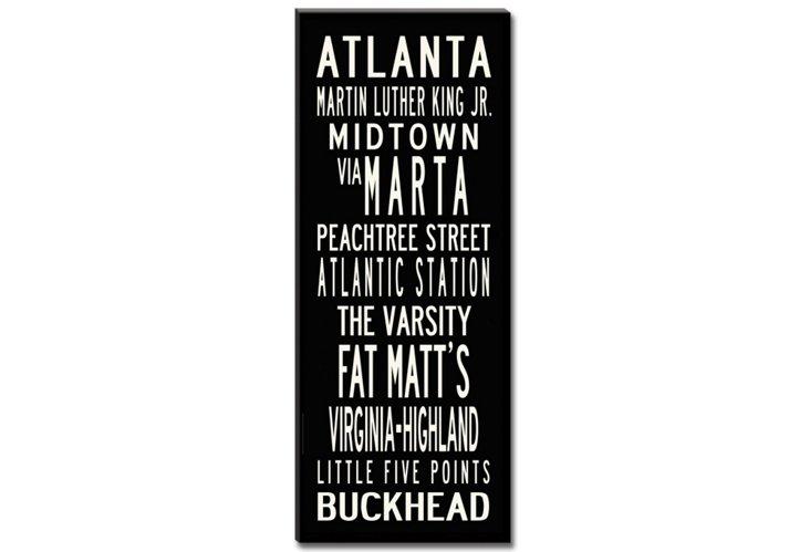Atlanta Canvas, Black