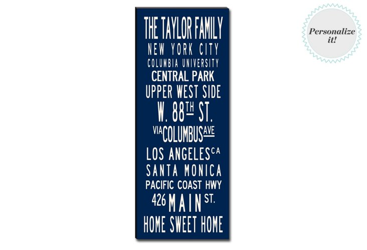 Personalized Homes 24x60 Canvas, Navy