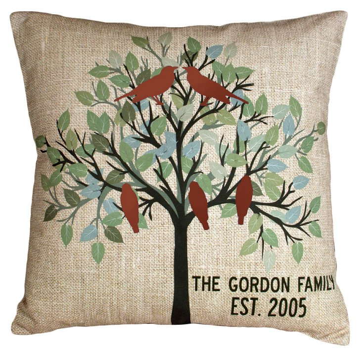 Family Tree 20x20 Pillow, Sand