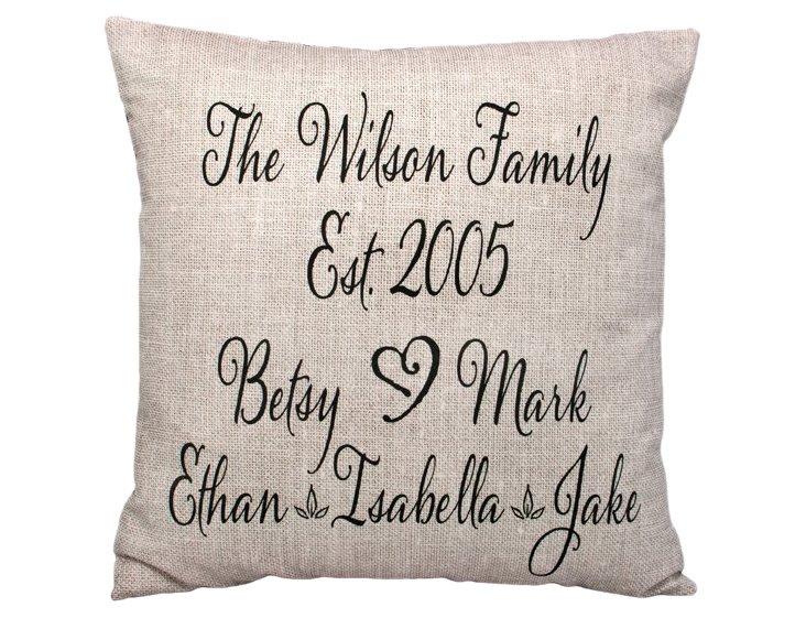 Names 20x20 Pillow, Sand