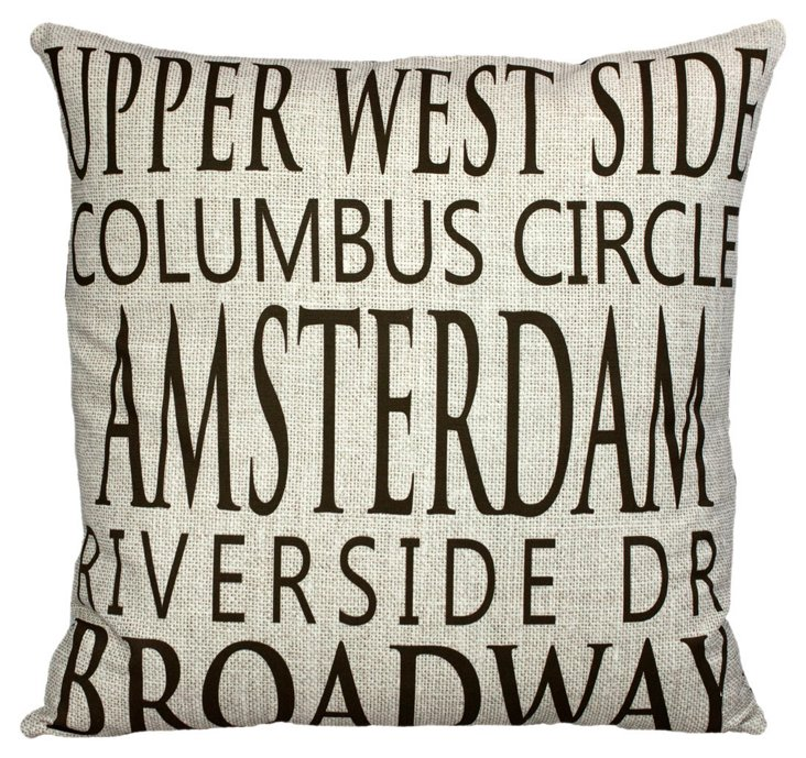 Upper West Side 20x20 Pillow, Linen