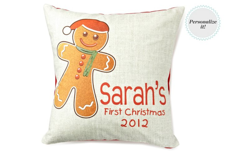 1st Christmas Cookie 16x16 Pillow, Multi