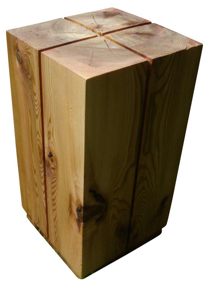 Solid Cedar Block Side Table