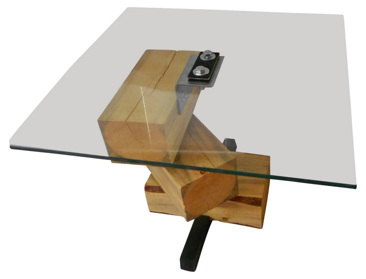 FIREWOOD Glass Top Side Table