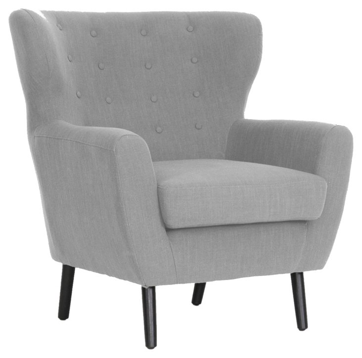 Moretti Club Chair, Light Gray