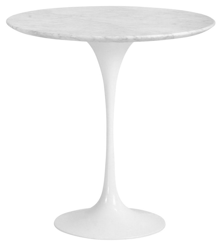 DNU, IK-Inmer End Table, White/Gray