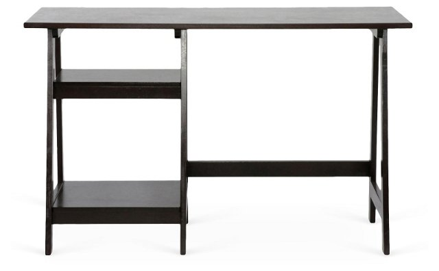 "Moore 47"" Wooden Desk, Wenge"