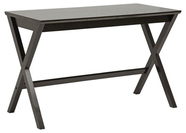 Owens X-Leg Writing Desk, Espresso