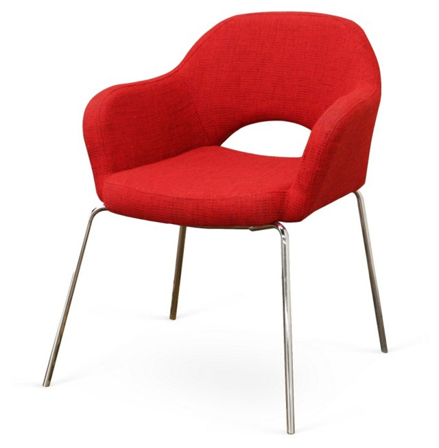 *IK Twill Executive Arm Chair, Red