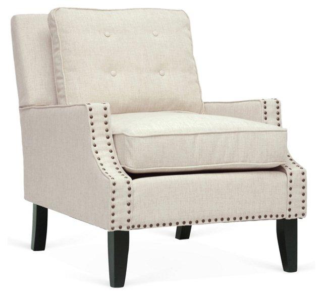 Norwich Lounge Chair, Beige