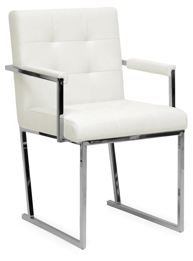 Collins Modern Accent Chair, White