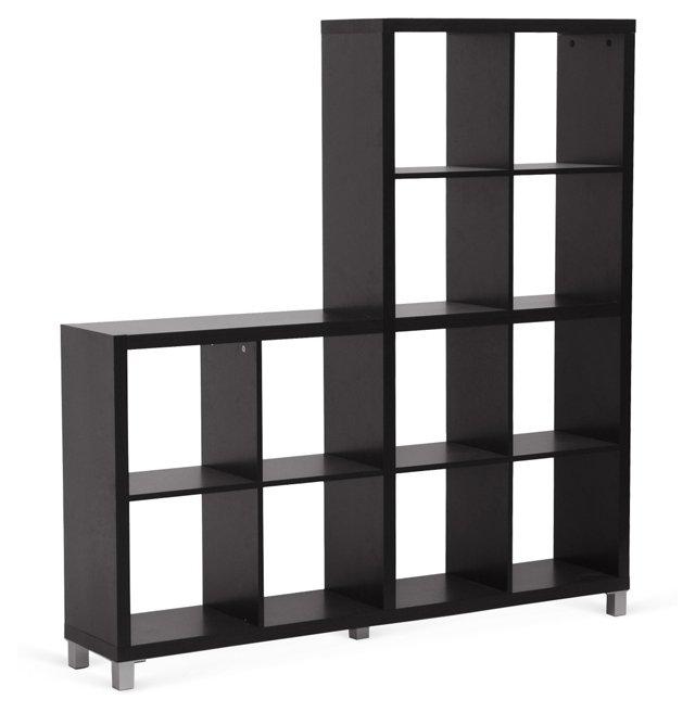 DNU, O-Cube Bookcase, Wenge