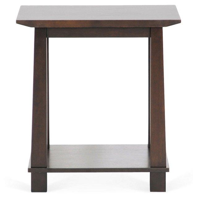 Robison Modern Side Table, Dark Espresso