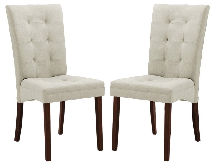 *R Beige Anne Dining Chairs, Pair