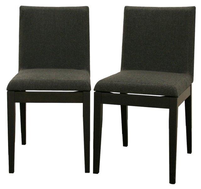 Black Moira Dining Chairs, Pair