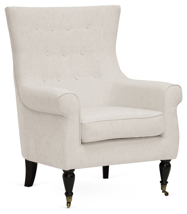 Oswald Modern Accent Chair, Beige