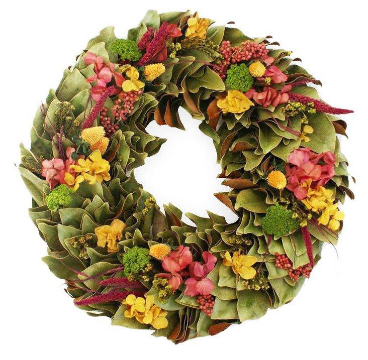 "23"" Mango & Pepperberry Wreath, Dried"