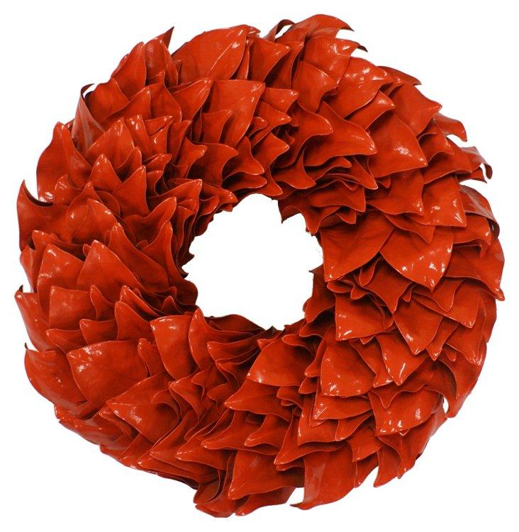 """28"""" Magnolia Wreath, Dried"""