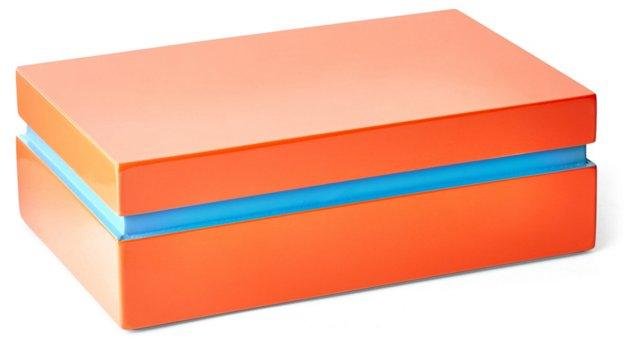 """8"""" Wood Box, Coral"""